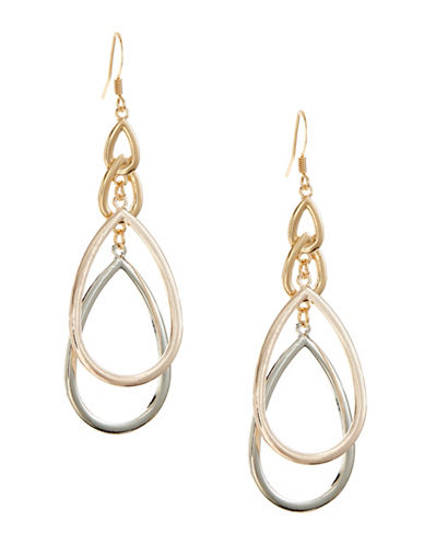 Expression Double Teardrop Earrings-ASSORTED-One Size