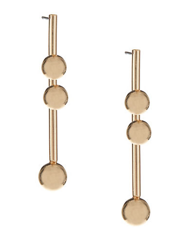 Expression Orb Drop Earrings-GOLD-One Size