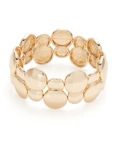 Expression Small Discs Stretch Bracelet-GOLD-One Size