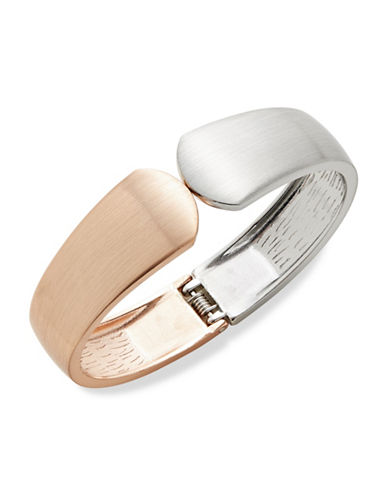 Expression Two-Toned Hinged Bangle-TWO TONE-One Size