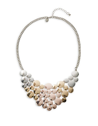 Expression Multi Disc Statement Necklace-TRI TONE-One Size