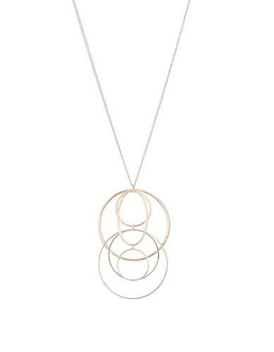 Expression Layered O-Ring Pendant Necklace-ASSORTED-One Size