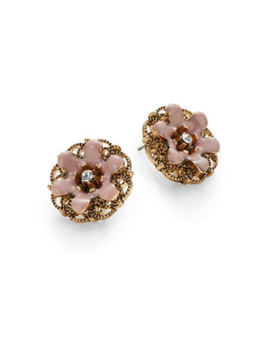 Expression Filigree Floral Studs-PINK-One Size