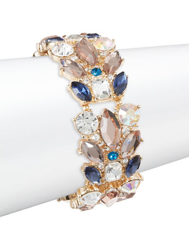 Expression Navette and Stone Stretch Bracelet-BLUE-One Size