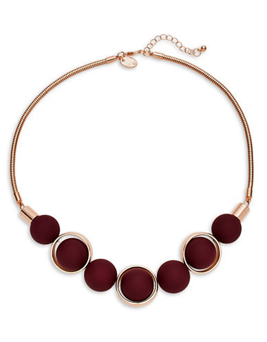 Expression Rubberized Ball Orbital Necklace-PURPLE-One Size