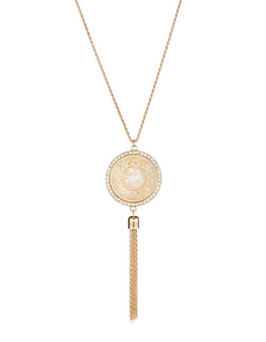 Expression Filigree Disc Necklace-GOLD-One Size