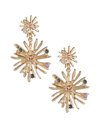 Expression Sunburst Drop Earrings-GOLD-One Size