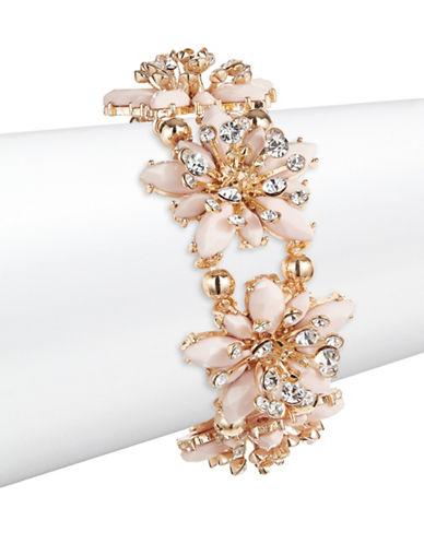Expression Navette Stones Stretch Bracelet-PINK-One Size
