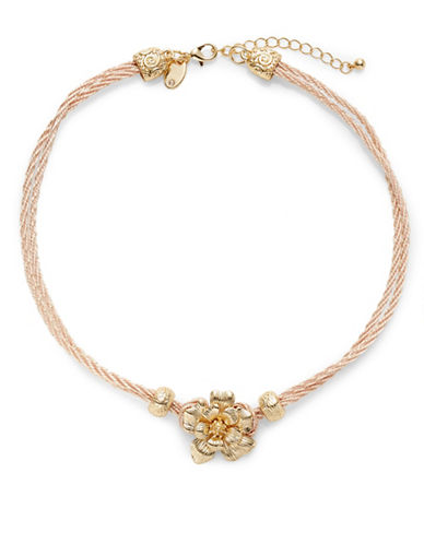 Expression Flower on Wrap Rope Bracelet-PASTEL-One Size