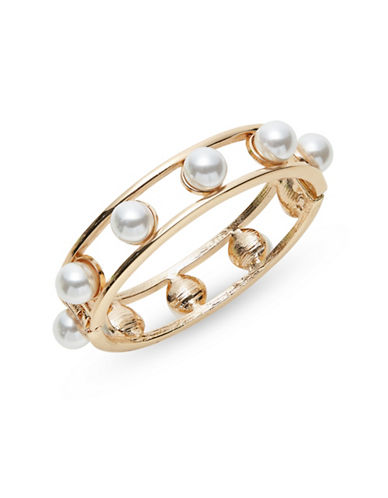 Expression Beaded Open-Frame Hinged Bangle-PEARL-One Size