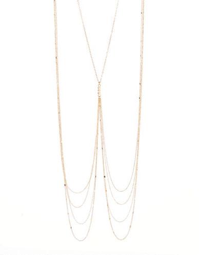 Expression Three Rhinestone Body Chain-GOLD-One Size