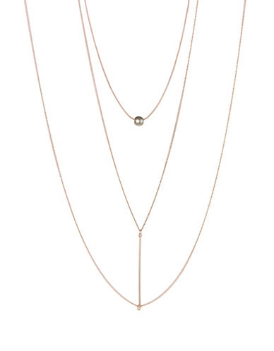Expression Bar Pendant Body Chain-ROSE GOLD-One Size