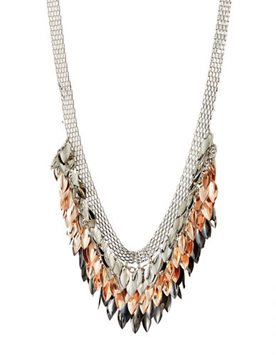 Expression Crystal Multi-Leaves Statement Necklace-ASSORTED-One Size