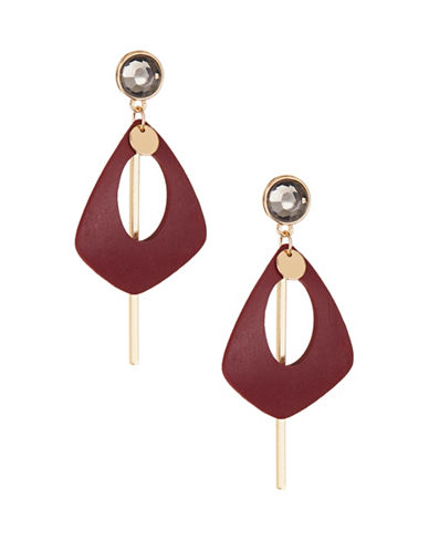 Expression Mixed Media Drop Earrings-PURPLE-One Size