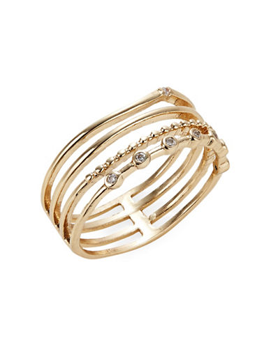 Expression Wrapped Midi Ring-GOLD-8