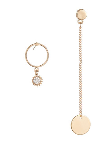 Expression Chain and Hoop Drop Earrings-GOLD-One Size