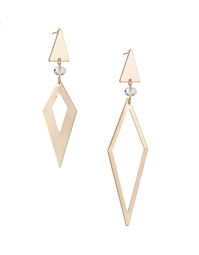 Expression Asymmetric Triangle Drop Earrings-GOLD-One Size