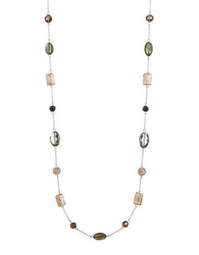 Expression Beaded Station Necklace-MULTI-One Size