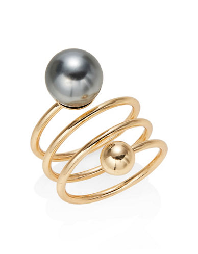 Expression Faux-Pearl Wrap Ring-GREY-7