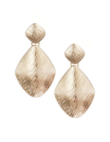 Expression Losange Drop Earrings-GOLD-One Size