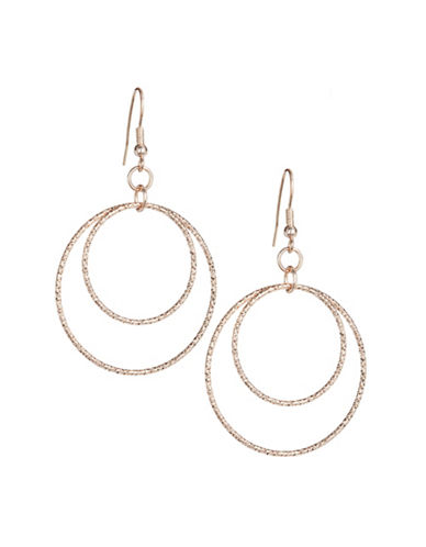 Expression Two-Disc Drop Earrings-SILVER-One Size