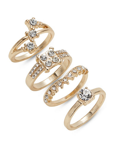 Expression Set of Four Crystal Rings-GOLD-8