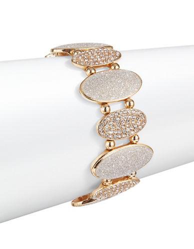Expression Oval Pave Slip-On Bracelet-GOLD-One Size