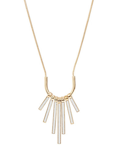 Expression Piano Key Pendant Necklace-GOLD-One Size