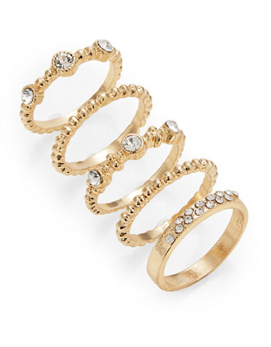 Expression Set of Five Crystal Rings-GOLD-9