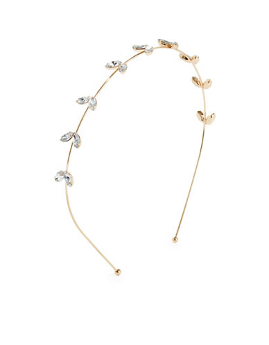 Expression Navette Stone Headband-GOLD-One Size