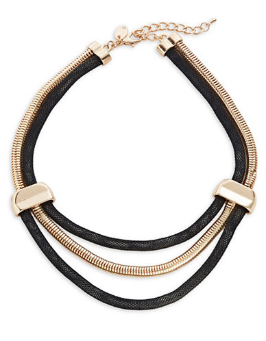 Expression Multi-Row Collar Necklace-BLACK-One Size