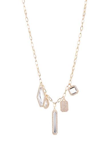 Expression Large Rhinestone Necklace-GOLD-One Size