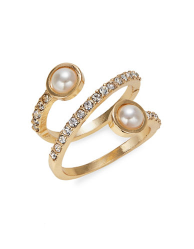 Expression Faux-Pearl Pave Wrap Ring-WHITE-7