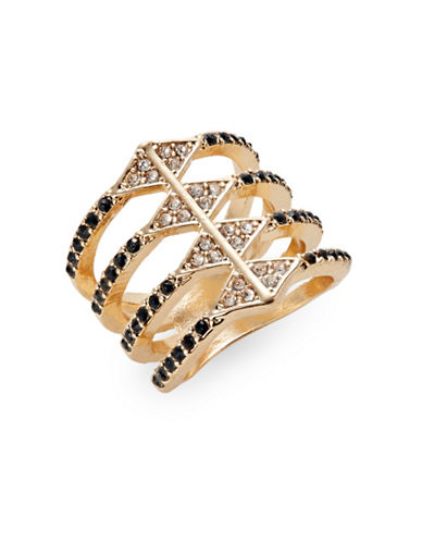 Expression Pave Multi-Row Ring-BLACK-8