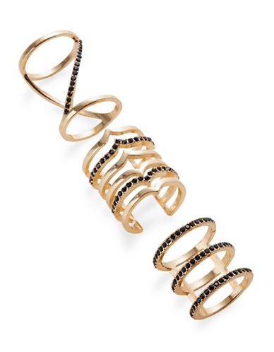 Expression Trio of Stacked Ring-BLACK-8