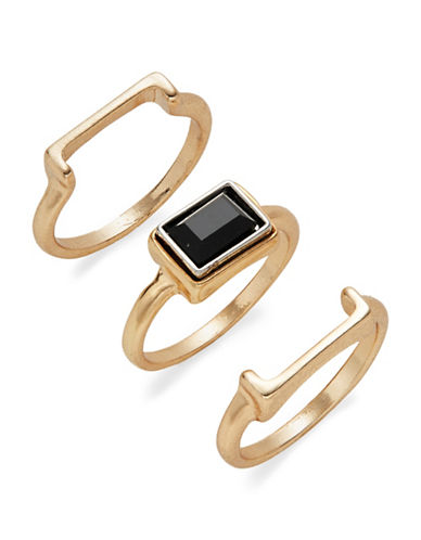 Expression Assorted Rectangular Ring Pack-BLACK-8