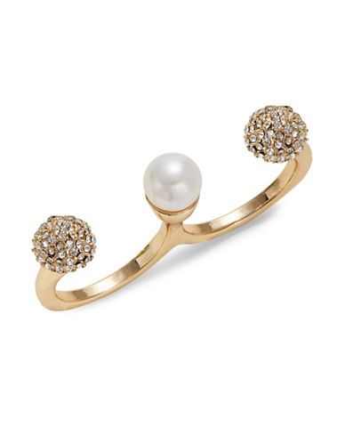 Expression Pave Faux-Pearl Double Split Ring-WHITE-8