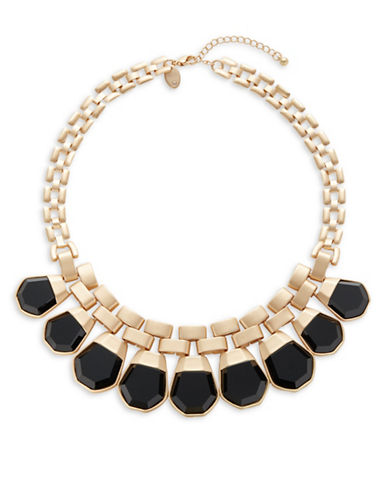 Expression Square Chain Necklace-BLACK-One Size
