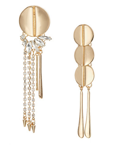 Design Lab Lord & Taylor Mismatch Chandelier Earrings-GOLD-One Size