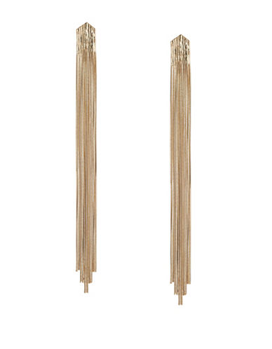 Expression Snake Chain Tassel Drop Earrings-GOLD-One Size