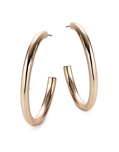 Expression Thick Half Hoop Earrings-ROSE GOLD-One Size