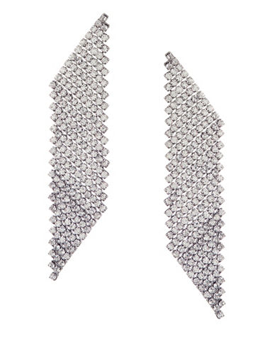 Expression Angular Flex Drop Earrings-SILVER-One Size