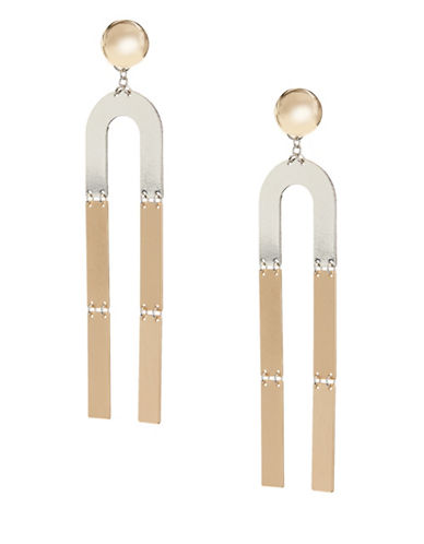 Design Lab Lord & Taylor Multitone Drop Earrings-TWO TONE-One Size