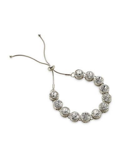 Expression Faceted Stone Slider Bracelet-SILVER-One Size