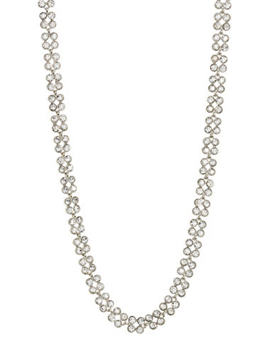 Expression Crystal Y-Necklace-SILVER-One Size