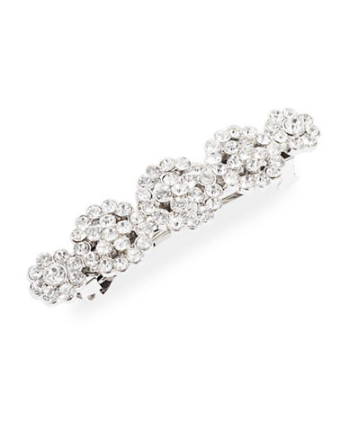 Expression Crystal Five-Florals Barrette-SILVER-One Size