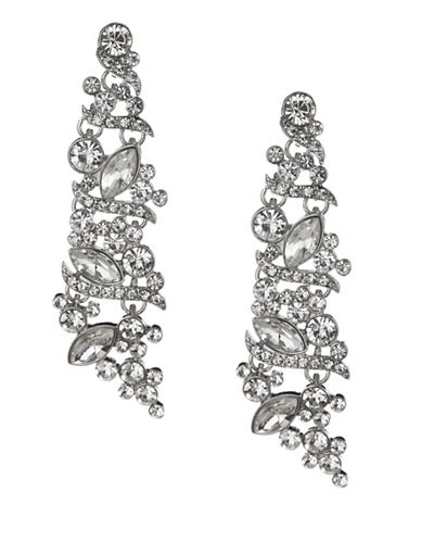 Expression Crystal Chic Drop Earrings-SILVER-One Size