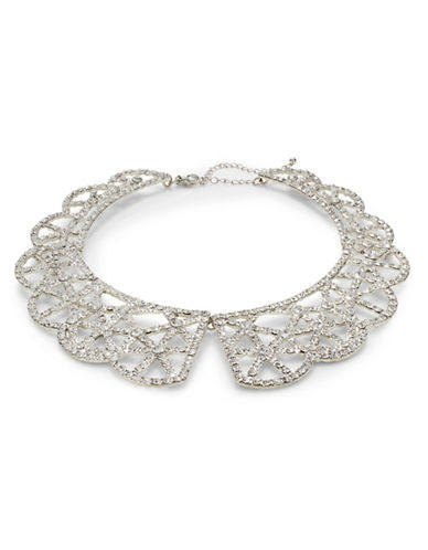 Expression Scallop Bib Necklace-SILVER-One Size