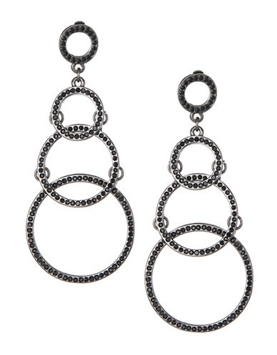 Expression Multi-Disc Drop Earrings-DARK GREY-One Size