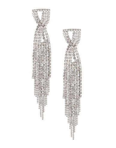 Expression Fringe Chain Drop Earrings-SILVER-One Size